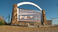Mojave Air and Space port sign entrance Stock Footage
