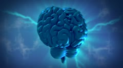3D Motion Graphic of a Human Brain Stock Footage