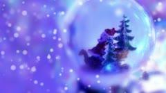 Christamas snow globe Stock Footage