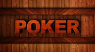 Stock Video Footage of Poker Wood Wall - HD1080