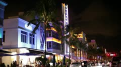 Miami beach ocean drive Stock Footage