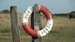 Hurst Ferry Lifebouy Stock Footage
