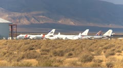 Mojave Air and Space port, #4 long stored aircraft at  Stock Footage