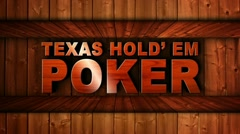 Texas Hold 'em Poker Wood Wall - HD1080 Stock Footage