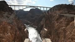 Hoover Dam Bridge Stock Footage