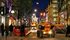 London Traffic in Oxford Street at Christmas time Stock Footage