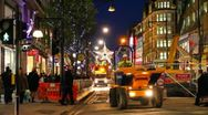 Stock Video Footage of London Traffic in Oxford Street at Christmas time