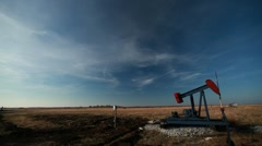 Oklahoma Pump Jack - stock footage