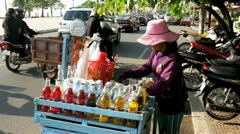 CAMBODIA-SOFT DRINK SELLER 1 Stock Footage