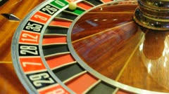 roulette wheel - stock footage
