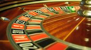 Roulette wheel Stock Footage