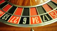 Stock Video Footage of roulette wheel