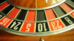 Roulette wheel Stock Footage