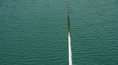 Thick cable tie yacht at Pier of QingDao city Olympic Sailing Center,tsingtao. Stock Footage