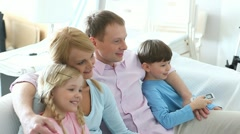 Family at home - stock footage