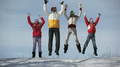 Jumping family Stock Footage