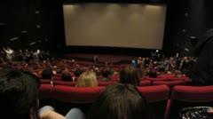 Stock video footage cinema hall Stock Footage