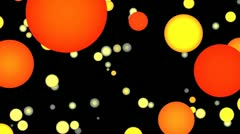 Orange and yellow full-spheres Stock Footage