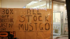 All stock must go- shop Stock Footage