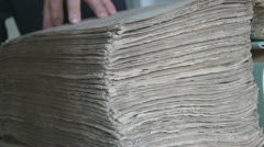 Mohammedan book of records from the mosque. Archive, Russia. Genealogy. Stock Footage