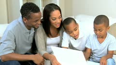 Cute Little African American Boys Playing on Laptop - stock footage