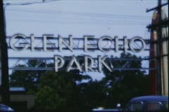 8mm Vintage Film, Glen Echo Park, 1952 Stock Footage