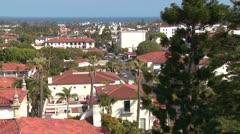 A high angle view over Santa Barbara, California. Stock Footage