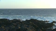 Amphitrite Point, waves crashing on rocky shore, #6 Stock Footage