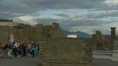 Tourists in Pompeii ruins Stock Footage