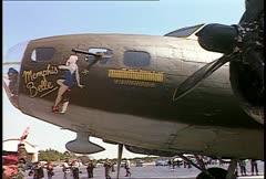 B17 Flightline 05 - stock footage