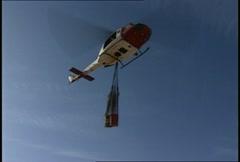 UH1 Huey Sling loads 07 Stock Footage