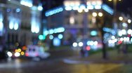 Stock Video Footage of The night city traffic bokeh video