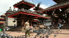 Durbar square, Nepal, Kathmandu, Asia Stock Footage
