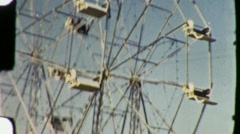 People Ride FERRIS WHEEL Amusement Park 1940s Vintage Film Retro Home Movie 1328 Stock Footage
