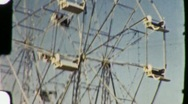 Stock Video Footage of People Ride FERRIS WHEEL Amusement Park 1945 (Vintage Film Home Movie) 1328