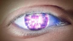 Eye of disco Stock Footage