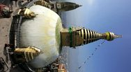 Stock Video Footage of  Swayambhunath Stupa,  Kathmandu, Nepal