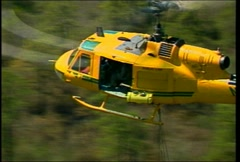 UH1 Huey Aerial Firefighting 10 Stock Footage