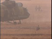 Mi8 Military Helicopter Landing 13 Stock Footage