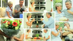 Montage of Mature Couple Leisure Lifestyle Stock Footage