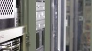 Computer equipment in server room Stock Footage