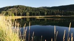 Pond lake nature mountains Stock Footage