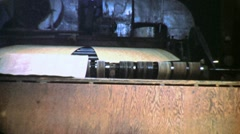 Industrial Plywood Sheets Production Line 1940s Vintage Movie Film Footage 1337 Stock Footage