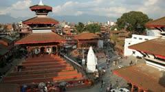 Durbar square, Nepal, Asia Stock Footage