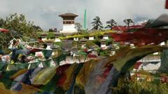 Chortens or Stupas, Bhutan, Asia Stock Footage