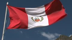 Peruvian Flag Stock Footage