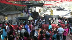 Dakshinkali Hindu Temple, Nepal, Asia Stock Footage