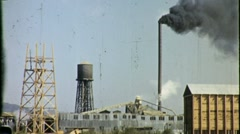 Make America Great Again Industry Factory Smokestack 50s Vintage Film Movie 1346 Stock Footage