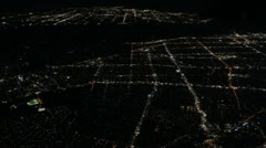 Aerial City Lights Stock Footage