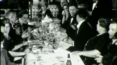 Stock Video Footage of FORMAL WEAR DINNER PARTY High Society People 1940s Vintage Film Home Movie 1352